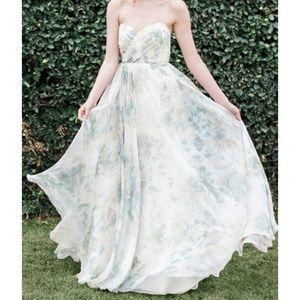 Jenny Yoo vintage floral bridesmaid gown